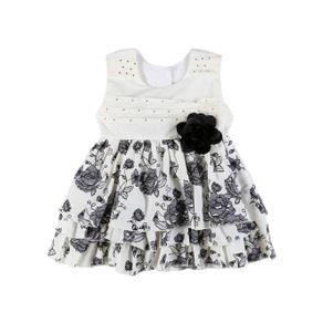 Vestido Infantil para Menina - Bege/preto 2