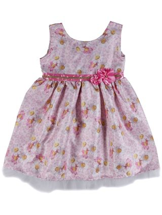 Vestido Infantil para Menina - Bege/rosa
