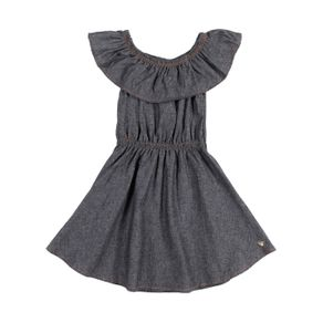 Vestido Infantil para Menina - Preto 1
