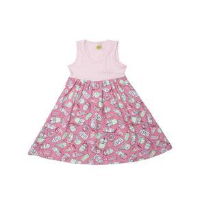 Vestido Infantil para Menina - Rosa 4