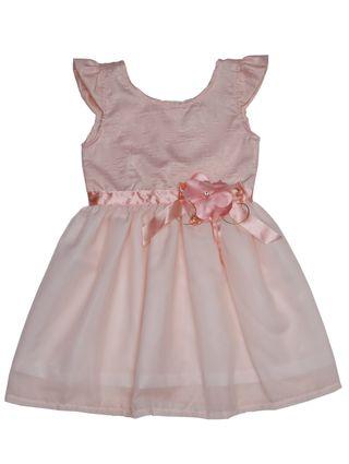 Vestido Infantil para Menina - Salmão
