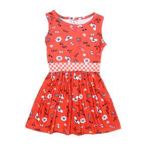 Vestido Infantil para Menina - Vermelho 1
