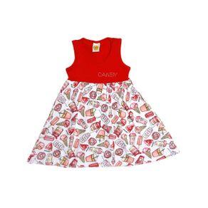 Vestido Infantil para Menina - Vermelho 6