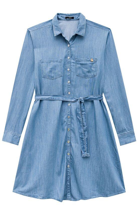 Vestido Jeans Amarração Wee! Azul Claro - GG