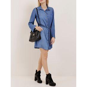 Vestido Jeans Feminino Azul Claro M