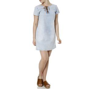 Vestido Jeans Feminino Azul G