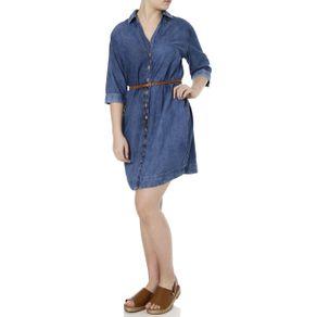 Vestido Jeans Feminino Azul GG