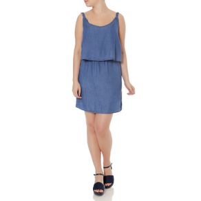 Vestido Jeans Feminino Azul M