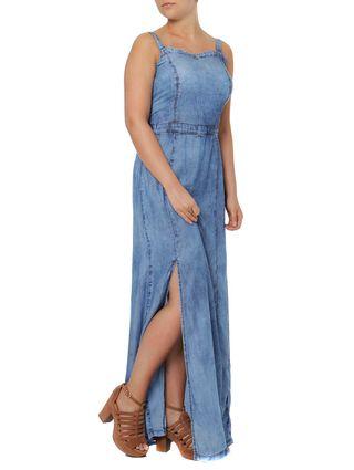 Vestido Jeans Longo Feminino Azul