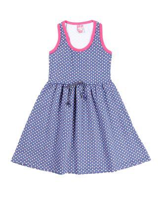 Vestido Juvenil para Menina - Azul