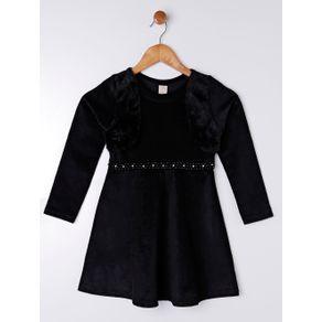 Vestido Juvenil para Menina - Preto 12
