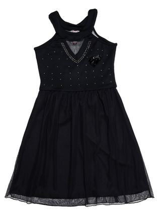Vestido Juvenil para Menina - Preto