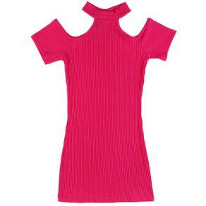 Vestido Juvenil para Menina - Rosa 10