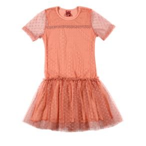 Vestido Juvenil para Menina - Salmão 10