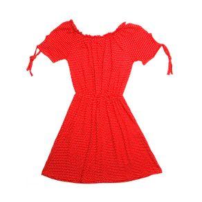Vestido Juvenil para Menina - Vermelho 12