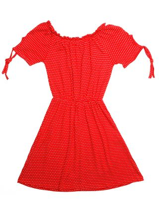 Vestido Juvenil para Menina - Vermelho