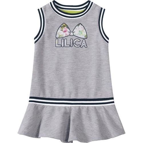 Vestido Lilica Ripilica Cinza Bebê Menina