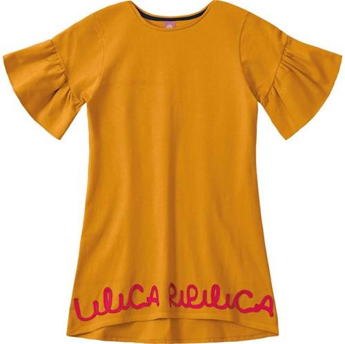 Vestido Lilica Ripilica Laranja Bebê Menina