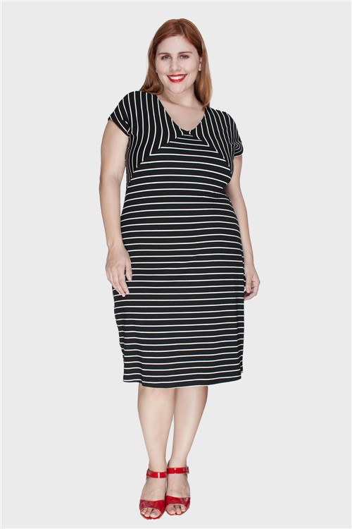 Vestido Linda Plus Size Preto-48