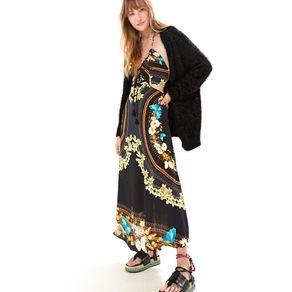 Vestido Longo Adita Est Adita_Preto - M