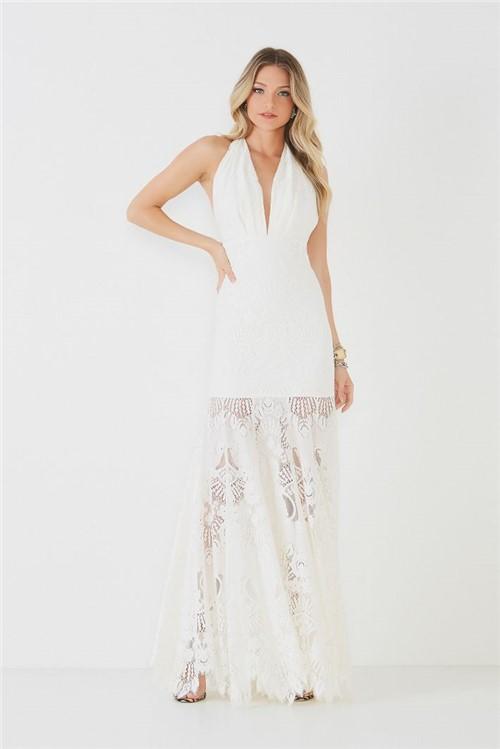 Vestido Longo Alicia - Off White 34