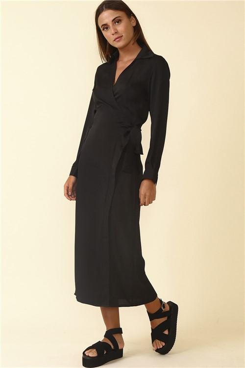 Vestido Longo Amarração - Preto Tamanho: M