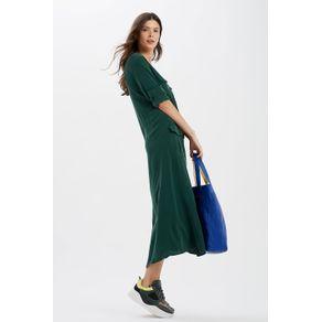 Vestido Longo Bolsos Verde Rafia - 34