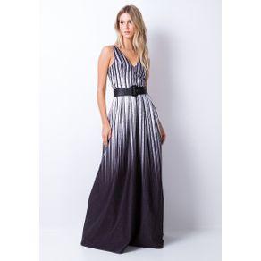 Vestido Longo Cinto Preto P