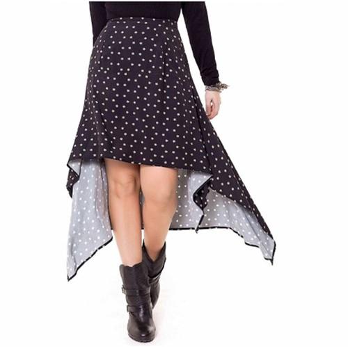 Vestido Longo com Recortes - Preto - P