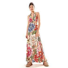 Vestido Longo Doce Maxi Chita Est Doce Maxi Chita_Respiro_Multicolorid - P