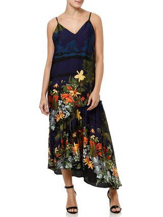 Vestido Longo Feminino Autentique Azul Marinho