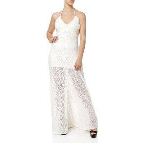 Vestido Longo Feminino Autentique Off White M