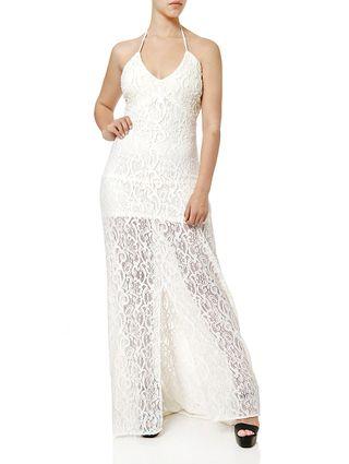 Vestido Longo Feminino Autentique Off White