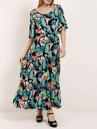 Vestido Longo Feminino Autentique Preto