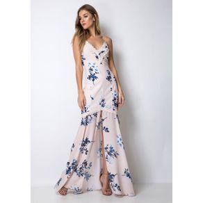Vestido Longo Fenda Rosa G