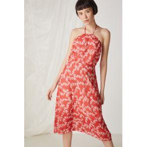 Vestido Longo Pinceladas Est Pinceladas Red - 36