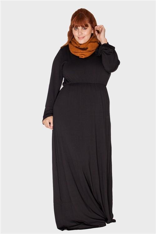Vestido Longo Plus Size Preto-48