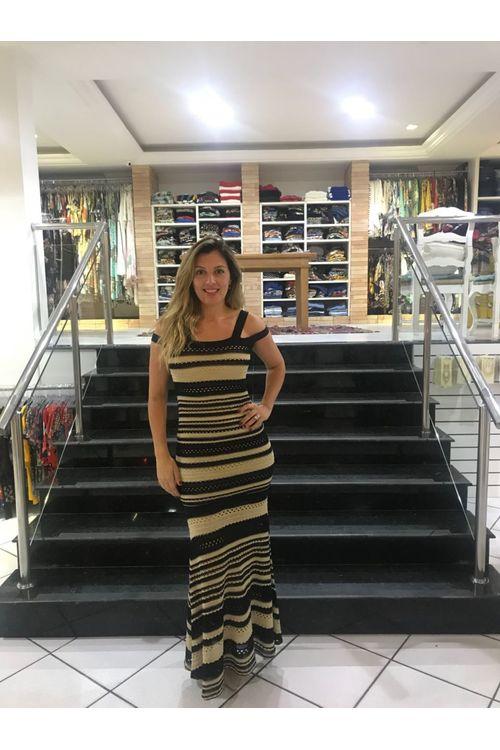 Vestido Longo Tricot Morena Rosa - M