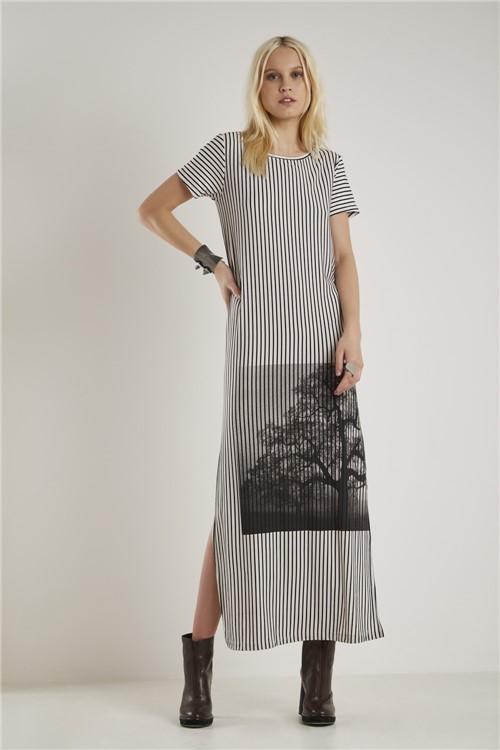 Vestido Malha Silk Fotografia Preto - M