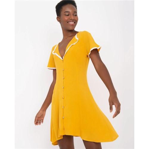 Vestido Manguinha Amarelo PP