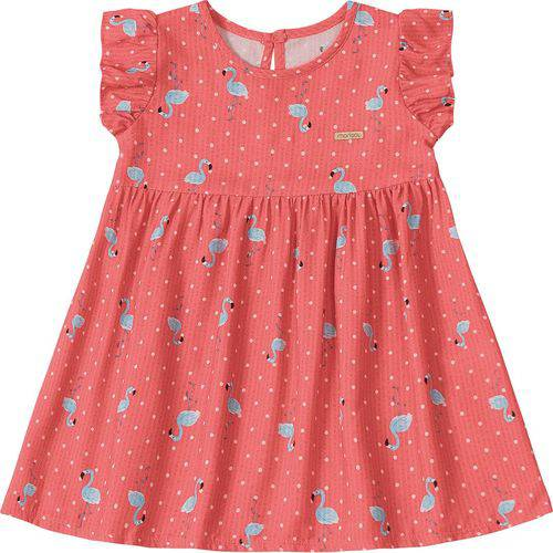 Vestido Marisol Flamingo Bebê Menina Laranja