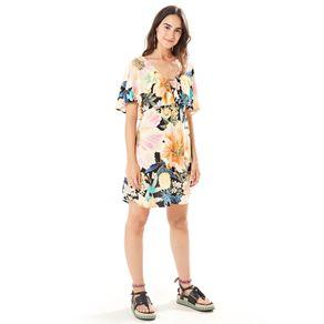 Vestido Maxi Floral Frescor Est Maxi Floral Frescor_Preto - M