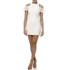 Vestido Médio Feminino Off White P