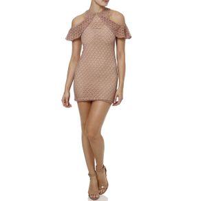Vestido Médio Feminino Rosa G