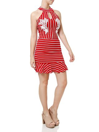 Vestido Médio Feminino Vermelho