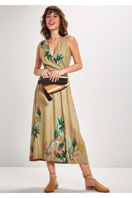 Vestido Midi Cantão Local Cidreira - Verde
