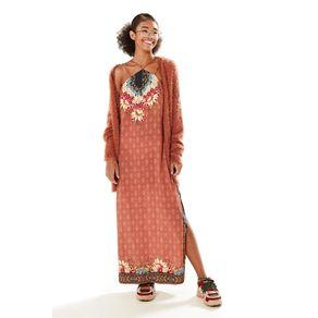Vestido Midi Colar de Flor Est Colar de Flores_Localizado_Rosa Mala - G