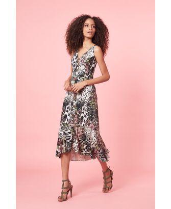 Vestido Midi Estampado Onça Floral