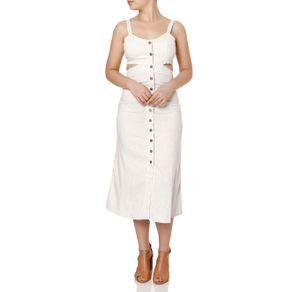Vestido Midi Feminino Autentique Bege G