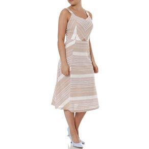 Vestido Midi Feminino Autentique Bege/nude M